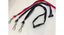 Nylon Lanyard with metal clip fitting and safety breaker