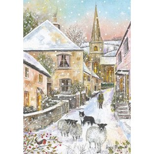 Through the Village Christmas Cards
