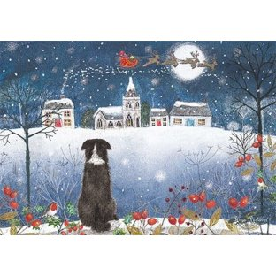 Watching Santa Christmas Cards