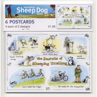 ISDS Sheepdog Trials Cartoon Postcards