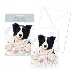 Pack of 3 - Border collie Note cards & envelopes