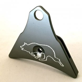 Logan Ventura Aluminium Whistle with etched Border Collie