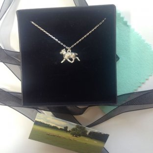 Silver Sheep charm necklace